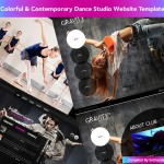Colorful & Contemporary Dance Studio Website Templates