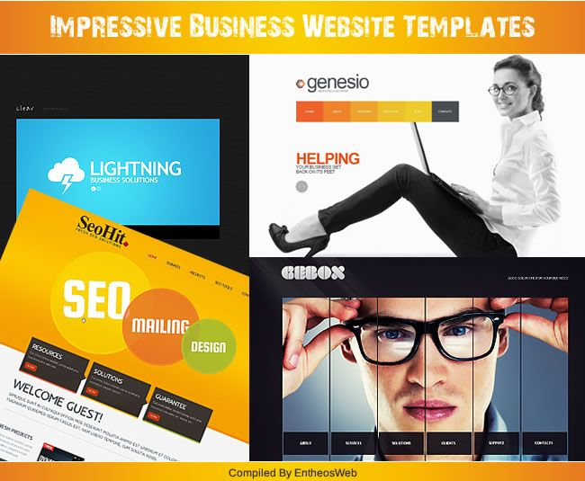 Impressive business website templates entheos accmission Image collections