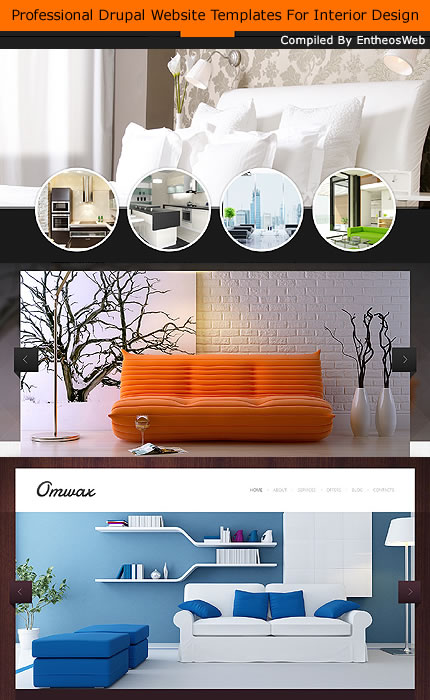 Professional Drupal Website Templates For Interior Design
