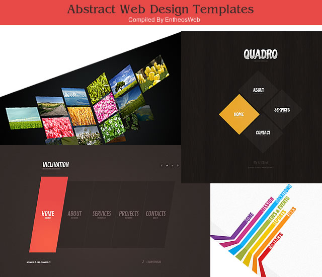 try abstract geometric web design layouts