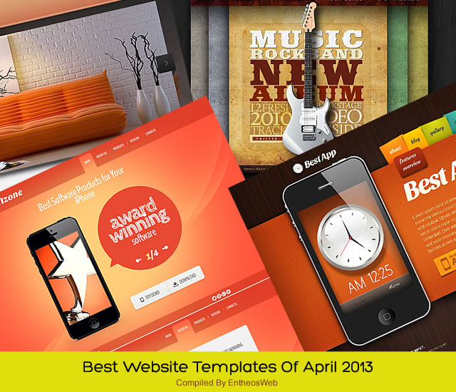 Best Website Templates Of April 2013