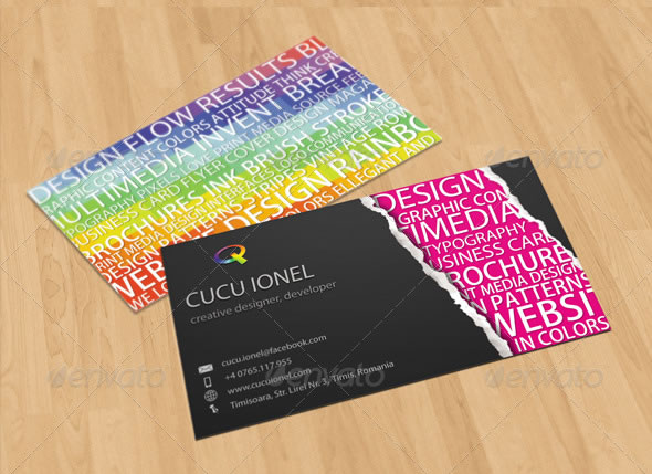 Creative business card design ideas entheos creative keywords business card colourmoves