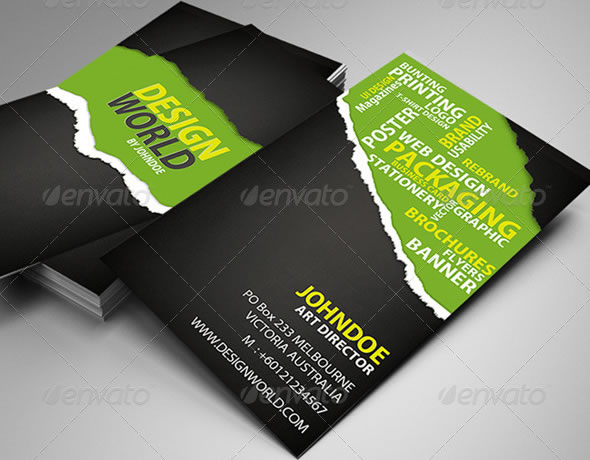 Creative business card design ideas entheos design world business card reheart