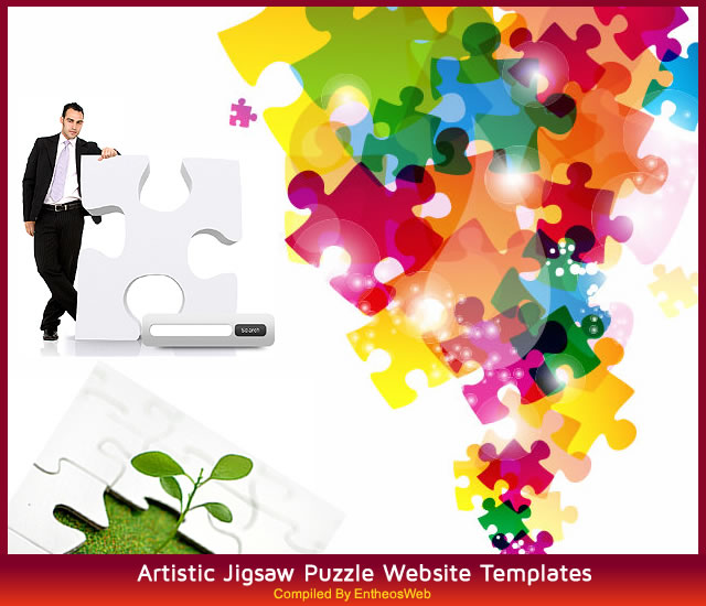 Artistic Jigsaw Puzzle Website Templates