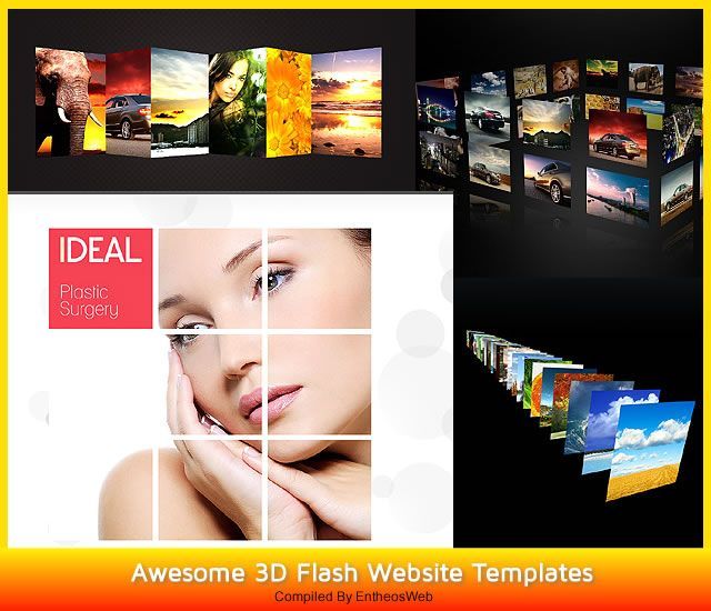 awesome 3d flash website templates entheos