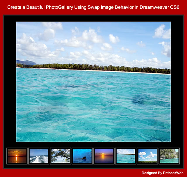 Create a beautiful photogallery using swap image behavior for Templates for dreamweaver cs6