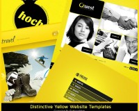 Distinctive Yellow Website Templates