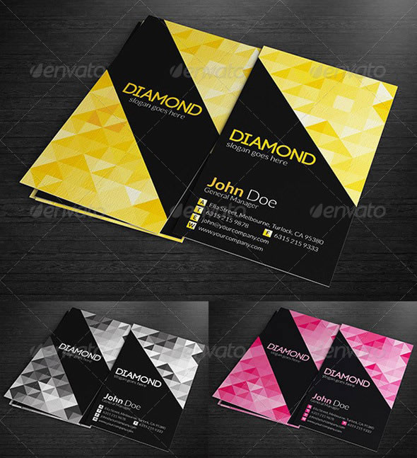 Creative abstract business card designs entheos multipurpose business cards diamond colourmoves