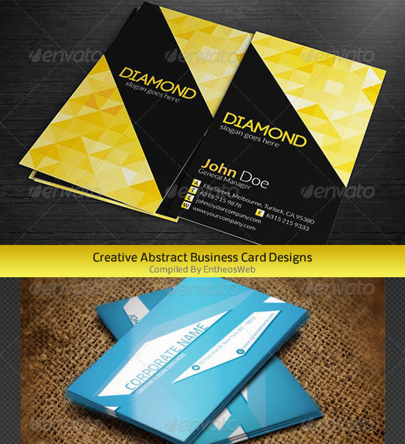 creative abstract business card designs entheos