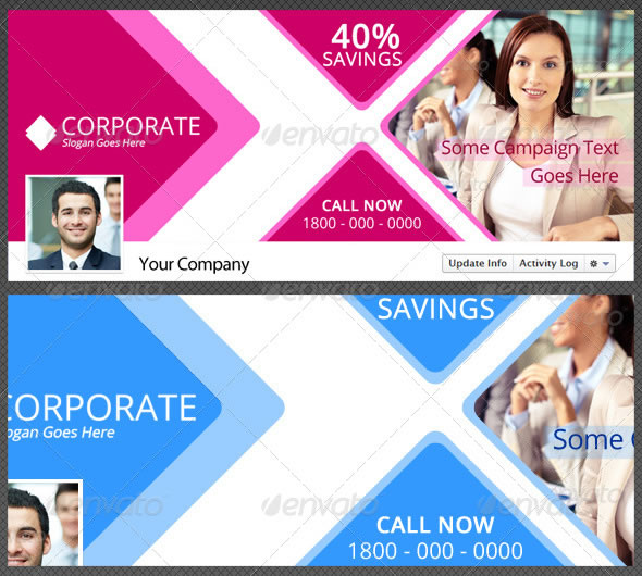 Creative Corporate Facebook Timeline Cover Vol 1