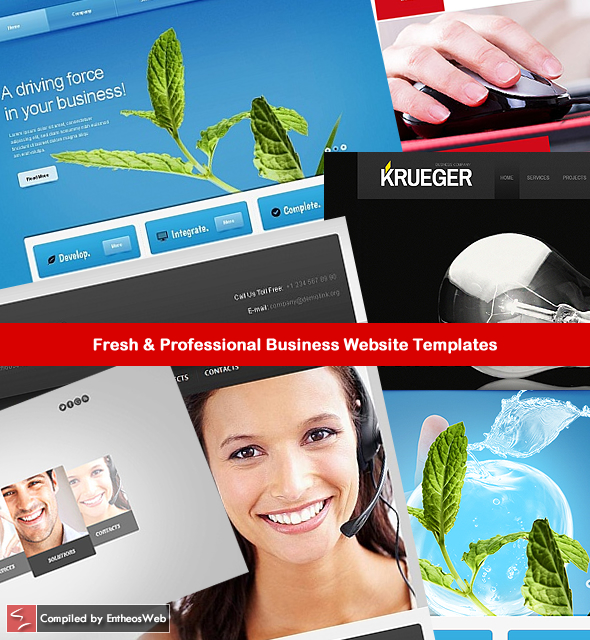 fresh professional business website templates entheos