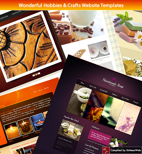 Wonderful Hobbies & Crafts Website Templates