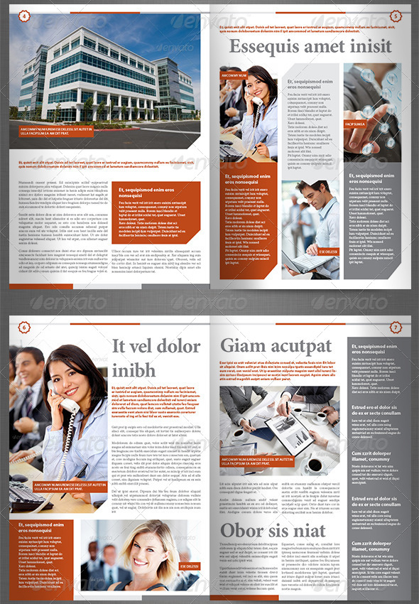 newsletter vol 8 indesign template