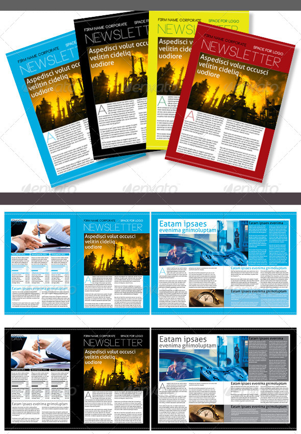 4 Color Version Corporate Newsletter