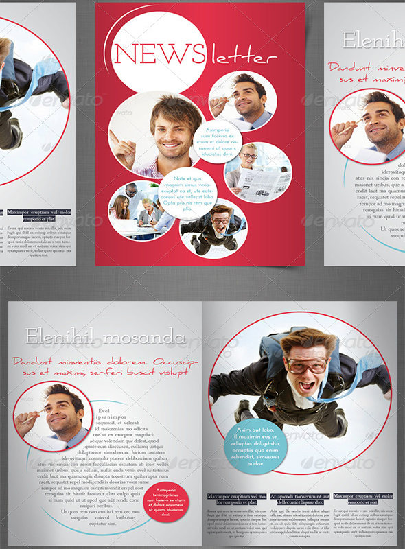 Impressive newsletter template designs entheos for Indesign email templates