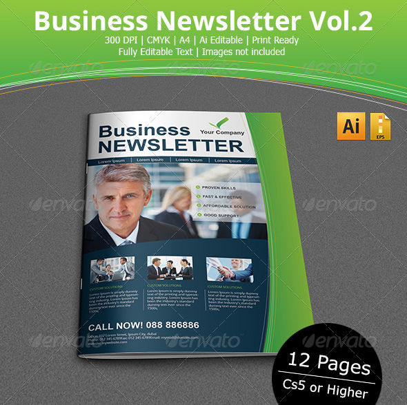 Impressive Newsletter Template Designs – Business Newsletter