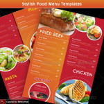 Stylish Food Menu Templates