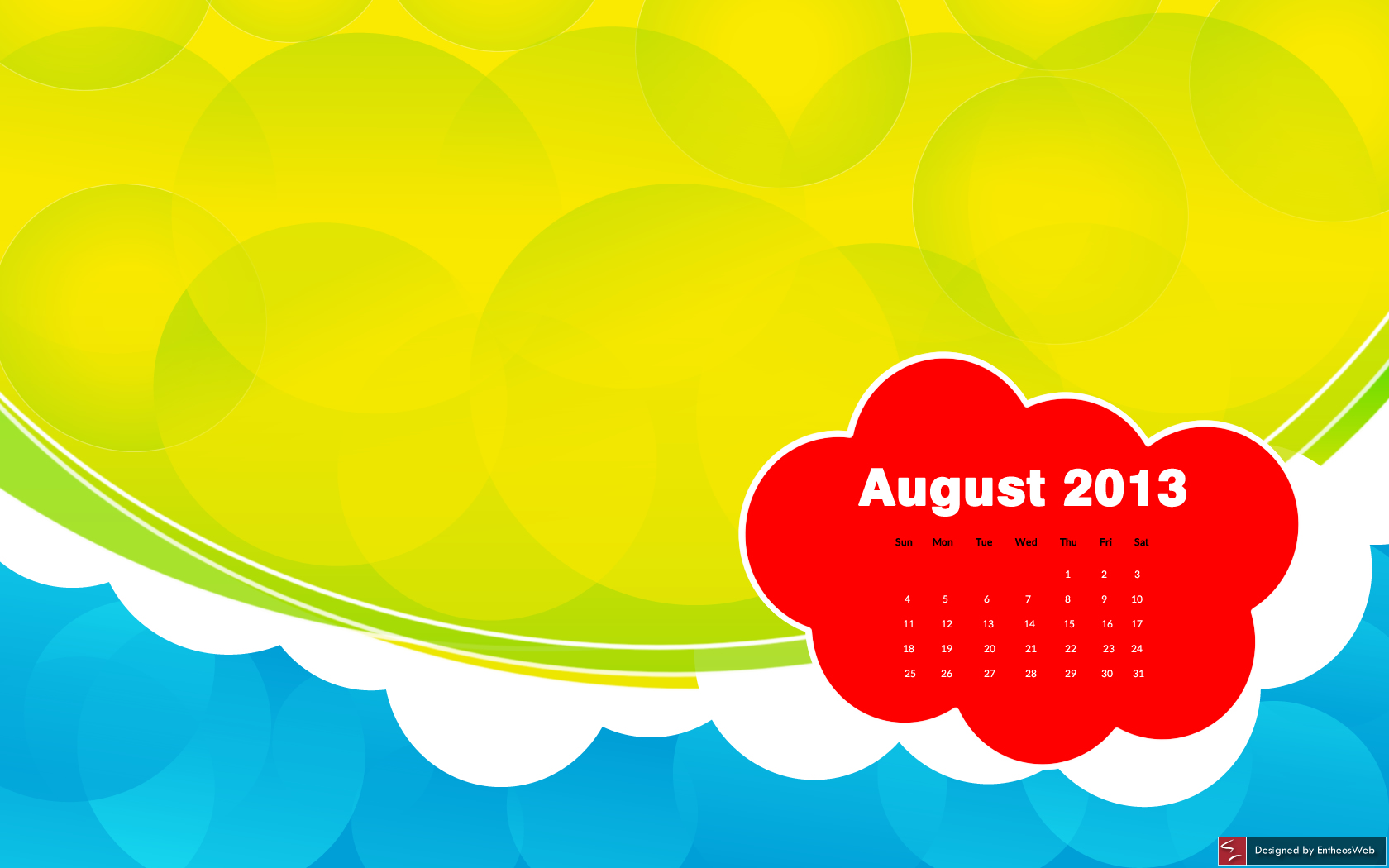gorgeous free desktop wallpaper calendar  u2013 august 2013