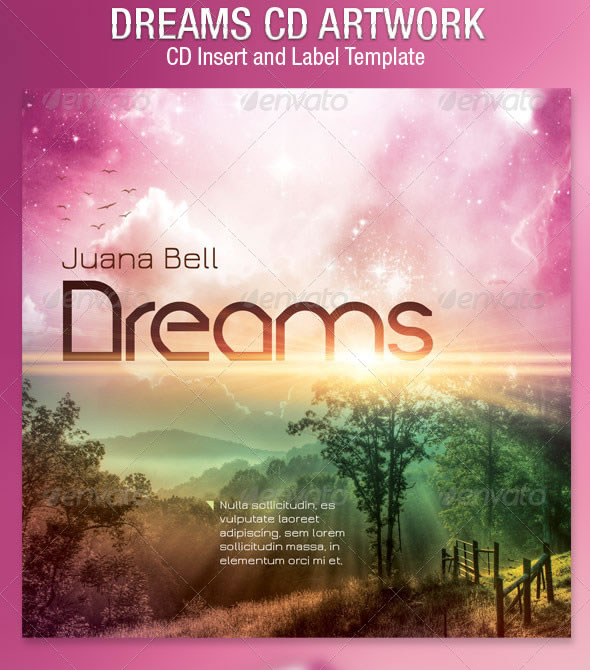 Dreams CD Artwork Template