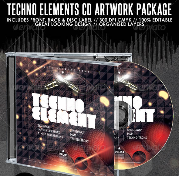 Techno Elements CD Artwork Package