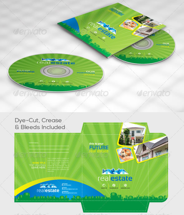 Real Estate CD Sleeve/Label & Sticker