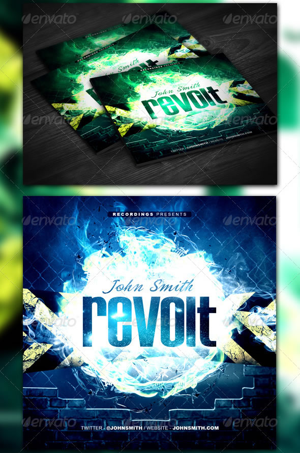 Revolt Mixtape / CD Template