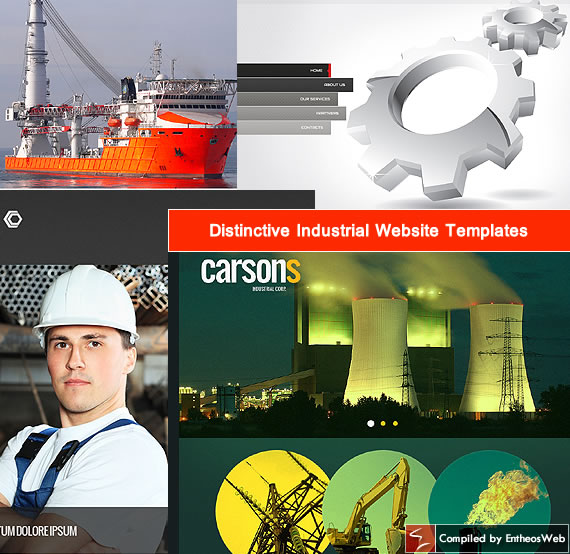 Distinctive Industrial Website Templates | Entheos