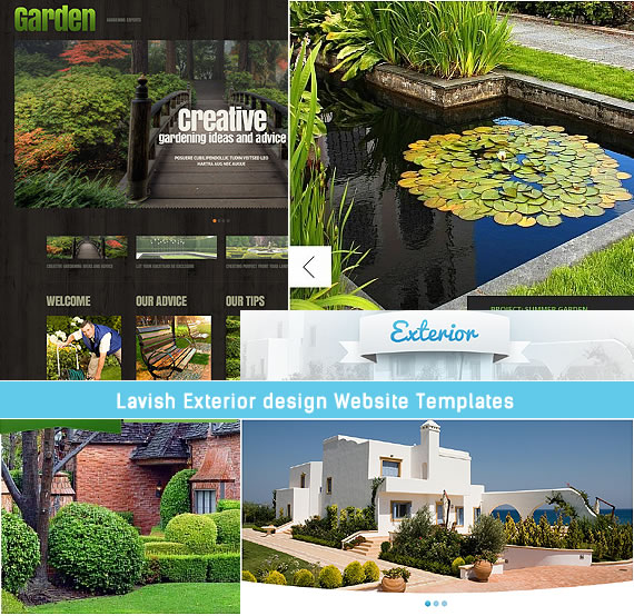 Garden Design Website Ideas Mesmerizing Lavish Exterior Design Website Templates  Entheos Design Inspiration