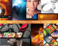 Large Photo Background Website Templates