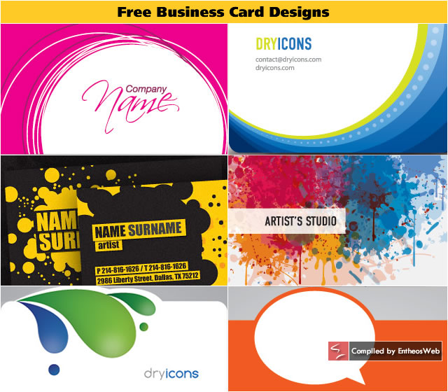 Free Business Card Designs Entheos - Free business card design templates
