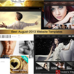 best august 2013 website templates