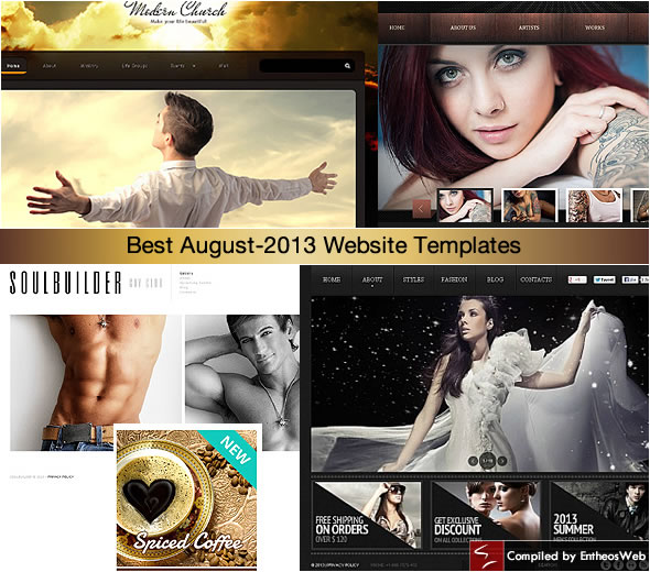 Best August-2013 Website Templates