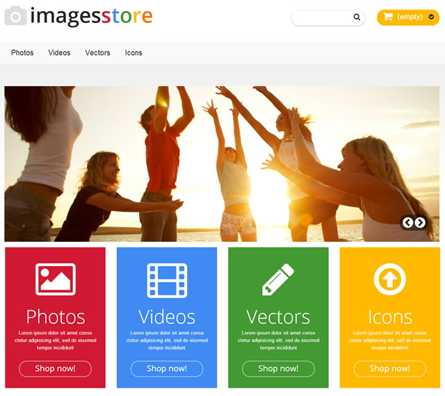Template 46526 - Images Bank Responsive PrestaShop Theme
