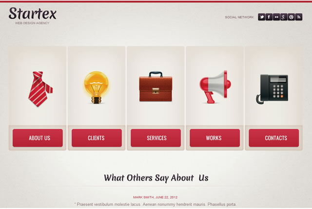 Template 39735 - Smartex Business Flash Website Template