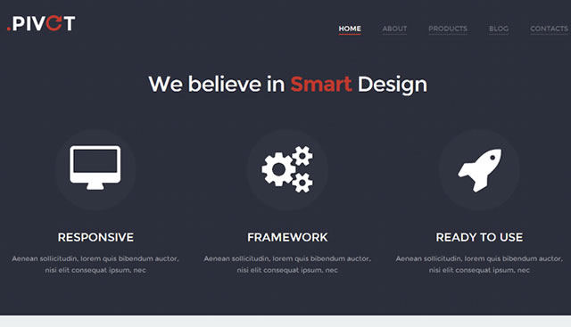 Template 47002 - Web Design Responsive WordPress Theme with Bootstrap, Portfolio, Blog, Black and White and Color