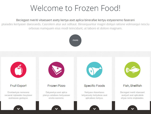 Template 46987 - Frozen Food Responsive Website Template