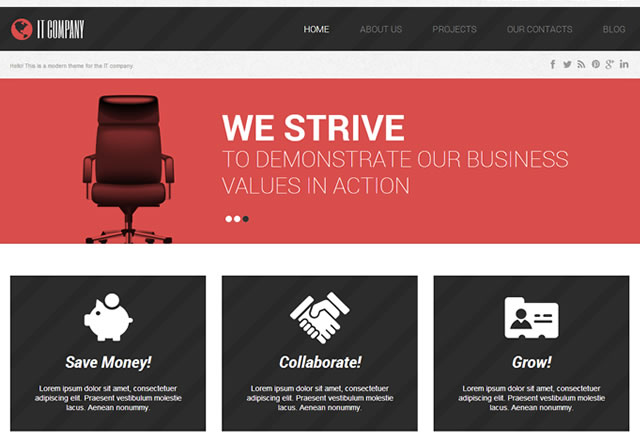 Template 46729 - It Company Responsive WordPress Theme