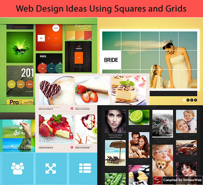 web design ideas using squares and grids entheos - Web Design Ideas