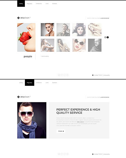 Template 46360 - Xtraclean Photographer Website Template