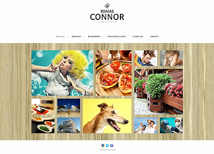 Template 46040 - Photography Responsive Joomla Template with Bootstrap, Grid Format, Portfolio, Blog, Admin Panel