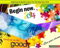 Inspiring Facebook Covers for New Year 2014