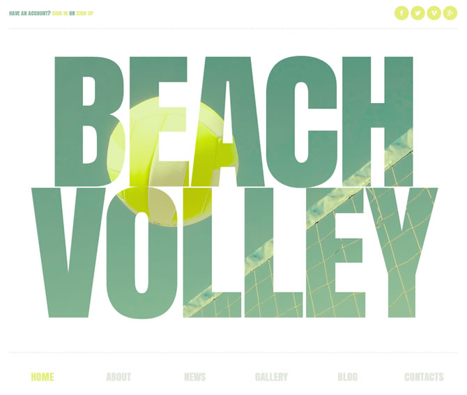 Template 44415 - Beach Volley Responsive Joomla Template