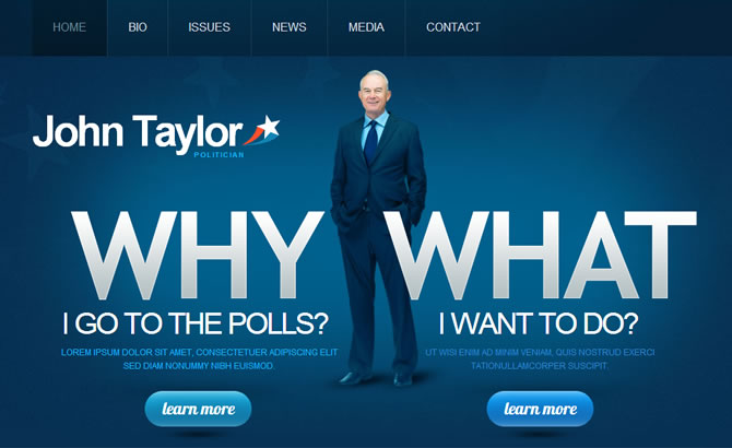 Template 42462 - Politics Moto CMS HTML Template with Photo and Video Gallery
