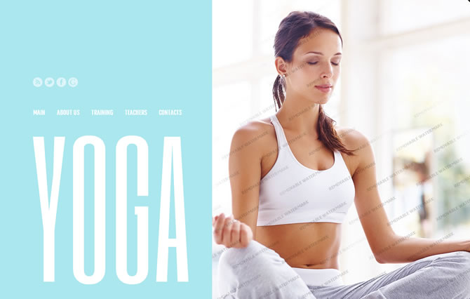 Template 46185 - Yoga Studio Website Template