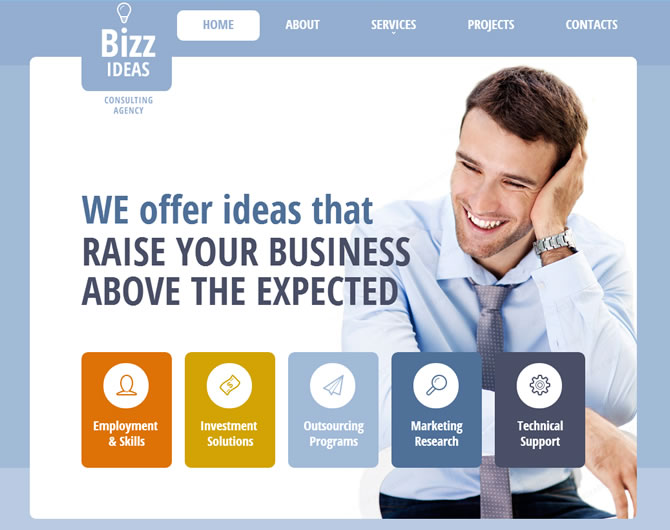 Template 47545 - Bizz Ideas Responsive Website Template