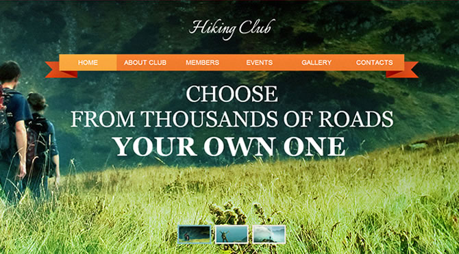 Template 46472 - Hiking Club Moto CMS HTML Template