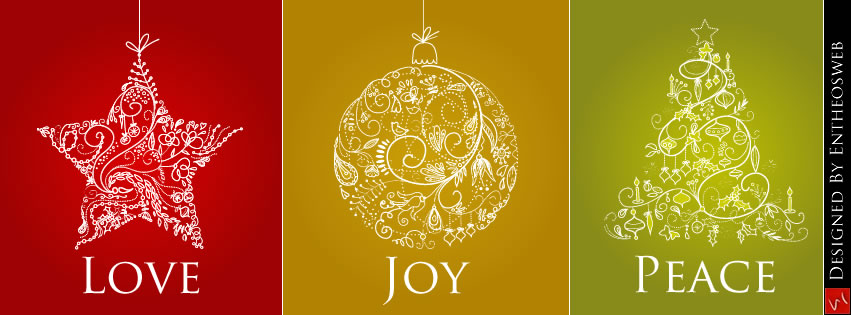 love joy and peace christmas facebook timeline cover