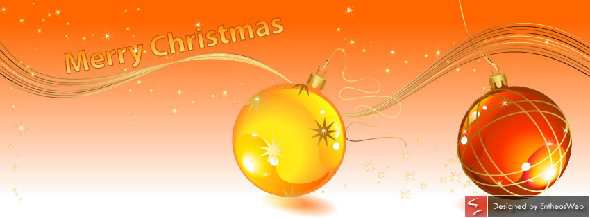3D Christmas Bauble in Yellow and Orange color