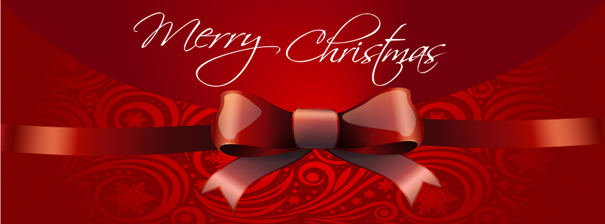 Red themed christmas facebook timeline cover