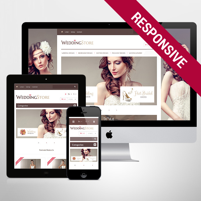 Template 47497 - Wedding Store Responsive PrestaShop Theme